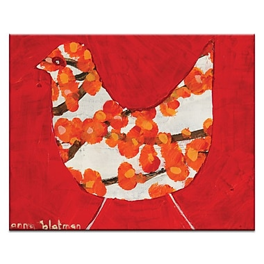 Artist Lane Red Bird by Anna Blatman Framed Painting Print on Wrapped Canvas