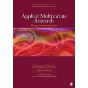 """Sage """"Applied Multivariate Research"""" Book"""