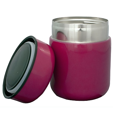 Geo Stainless Steel Vacuum Flasks, 350mL, Pink, 2/Pack
