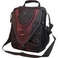Mobile Edge Mini Messenger Bag For 13.3in. Laptops, Netbooks, iPads, Tablet PCs, Black/Red