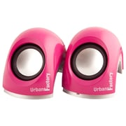 Urban Factory Crazy 2.0 2x3W USB 2.0 Mini Speaker System, Pink