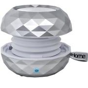 SDI Technologies® iHome Color Changing 3W RMS Bluetooth Rechargeable Mini Speaker, White