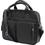"Mobile Edge Vegan Leather The Tech Briefcase For 14"" Laptop, Black"