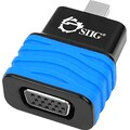 Siig® Mini DisplayPort 1.2 to VGA Adapter Dongle, Black/Blue