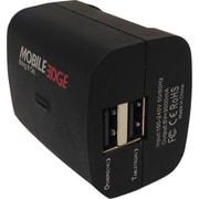 Mobile Edge DualPower 3.1 AC Auto Dual USB Wall Charger, Black