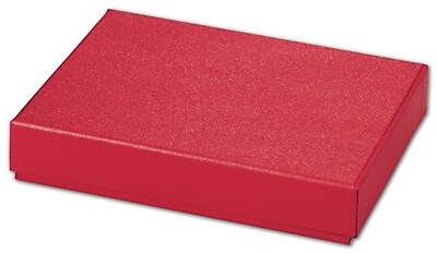 """""Bags & Bows Red Sparkle 6 3/8"""""""" x 4 3/4"""""""" x 1 3/16"""""""" Decorative Candy Box, Red"""""" 1188653"
