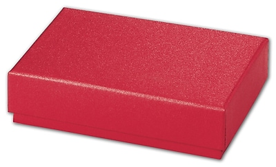 """""Bags & Bows Red Sparkle 4 3/4"""""""" x 3 1/4"""""""" x 1 3/16"""""""" Decorative Candy Box, Red"""""" 1188654"