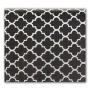 """Bags & Bows® Quatrefoil 20"""" x 30"""" Tissue Paper, Black"""