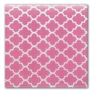"""Bags & Bows® Quatrefoil 20"""" x 30"""" Tissue Paper, Pink"""
