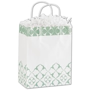 Bags & Bows® Aurora 10 1/2 x 8 1/4 x 4 3/4 Cub Shoppers Bag, Green On White