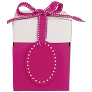 "Bags & Bows® Pretty in Pink Giftalicious 4"" x 4"" x 4 3/4"" Pop-Up Box, Pink"