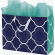 Bags & Bows® Regency Euro-Shoppers 16in. x 6in. x 12in. Bag, Green/White/Blue