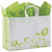 Bags & Bows® Fresh Greens 12 x 16 x 6 Vogue Shoppers Bag, Green On White