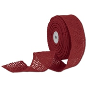 Bags & Bows® 2 x 10 Yds. Wired Burlap Ribbon, Red