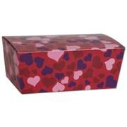 "Bags & Bows® Valentine's 5 7/8"" x 3 1/4"" x 2 1/2"" Paper Ballotin Box, Red"