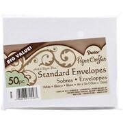 Darice® Smooth 4.375 x 5.75(A2) Kraft Envelopes, White, 50/Pack