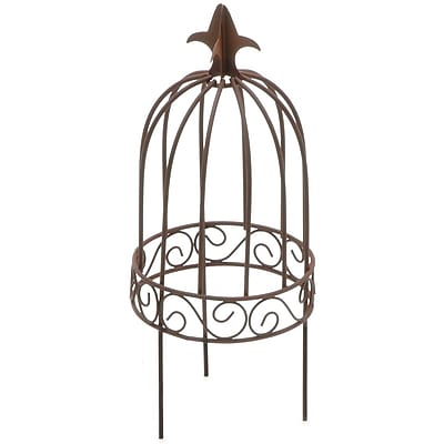 Darice Timeless Miniatures Wire Garden Birdcage With Pick Rustic