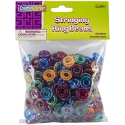 "Creativity Street® Stringing Ring Beads, 5/8"", Assorted"