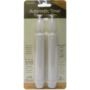 "Darice® 6"" LED Taper Candle With Timer, White, 2/Pack"