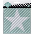 Heidi Swapp Mixed Media Stencil, Star/Cut Out Star/Diagonal Stripe, 5 1/2in. x 5 1/2in.