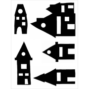 "Joggles Skinny Minny Stencil and Mask, 9"" x 12"", Wonky House"