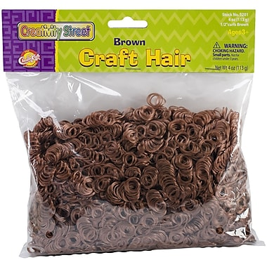 Chenille Kraft Creativity Street Craft Hair, 4 oz., Brown