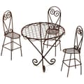 Darice® Timeless Miniatures Wire Garden Table With 3 Chairs, Rustic