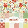 Kaisercraft 12in. x 12in. Paper Pack With Bonus Sticker Sheet, Mistletoe, 12/Pack