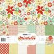 Kaisercraft 12in. x 12in. Paper Pack With Bonus Sticker Sheet, Mistletoe, 12/Pack