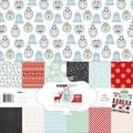 Kaisercraft 12in. x 12in. Paper Pack With Bonus Sticker Sheet, North Pole, 12/Pack