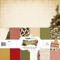 Kaisercraft 12in. x 12in. Paper Pack With Bonus Sticker Sheet, Yuletide, 12/Pack