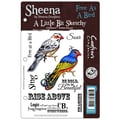 Crafter's Companion Sheena's A Little Bit Sketchy EZMount Stamp Set, Free As A Bird, 5 1/2in. x 8 1/2in.