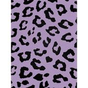 "Kunin™ Polyester Fanci Felt, 9"" x 12"", Cheetah-Bright Lilac With Black Flock"