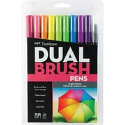 Tombow Dual Brush Pen Set, Bright, 10/Pack
