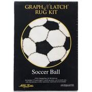 "M C G Textiles Latch Hook Kit, 26"", Soccer Ball"