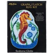 "M C G Textiles Latch Hook Kit, 27"" x 20"", Seahorse Globe"