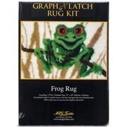 "M C G Textiles Latch Hook Kit, 27"" x 20"", Frog"