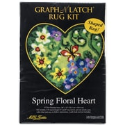 "M C G Textiles Latch Hook Kit, 30"" x 27"", Spring Floral Heart"