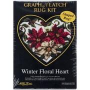 "M C G Textiles Latch Hook Kit, 30"" x 27"", Winter Floral Heart"