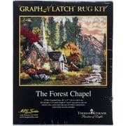 """M C G Textiles Latch Hook Kit, 40"""" x 27"""", Forest Chapel"""
