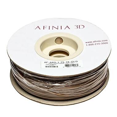 Afinia Value-Line H-Series 1.75mm ABS Plastic 3D Printer Filament, Gold