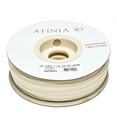 Afinia Value-Line H-Series 1.75mm ABS Plastic 3D Printer Filament, Glow Green (Glows In The Dark)