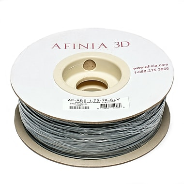 Afinia Value-Line H-Series 1.75mm ABS Plastic 3D Printer Filament, Silver