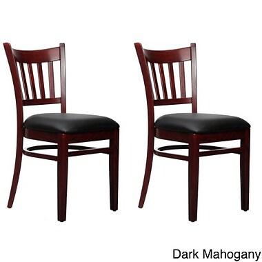 Beechwood Mountain Niagara Faux Leather Side Chair, Dark Mahogany
