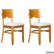 Beechwood Mountain Card Linen Upholstered Side Chairs