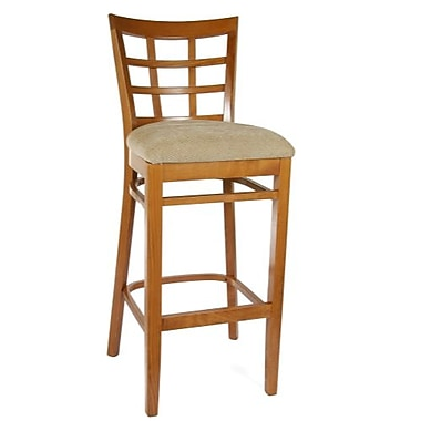 Beechwood Mountain Lattice Beech Wood Barstool, Cherry