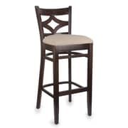 Beechwood Mountain Diamond Back Microfiber Barstool, Walnut