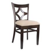 Beechwood Mountain Diamond Back Microfiber Side Chair, Walnut