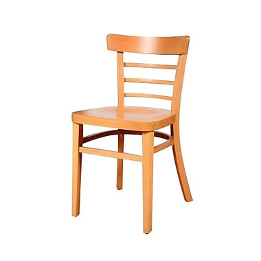 Beechwood Mountain Mahogany Economy Wooden Side Chair, Natural