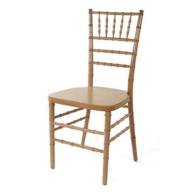 Beechwood Mountain Wood Stackable Ballroom Chairs, Natural